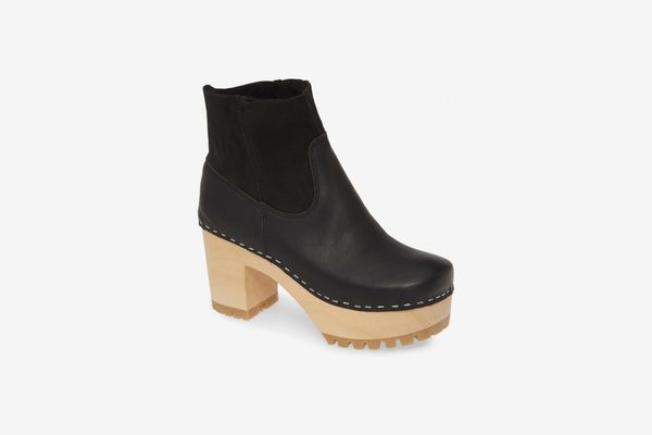 Swedish Hasbeens Genuine Shearling Lined Boot
