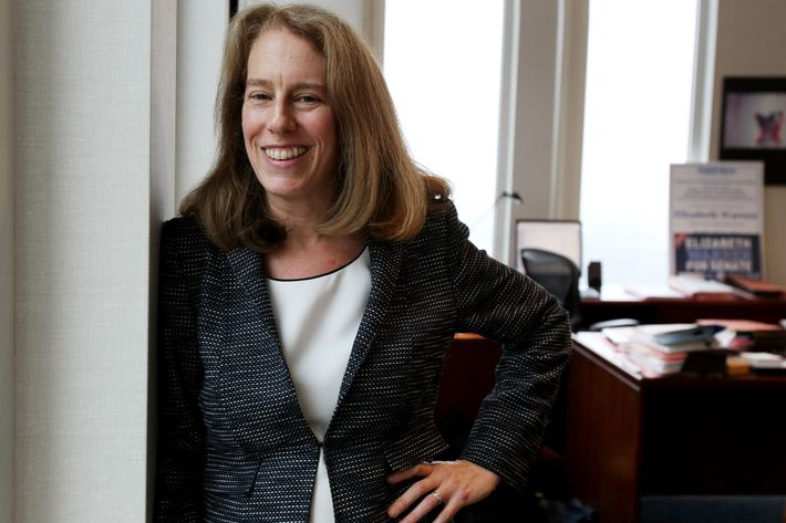 BOSTON - DECEMBER 10: Shannon Liss-Riordan, who has won several high-profile class action suits on behalf of workers, including Upper Crust Pizza, and is changing labor law, shot at her office. (Photo by Suzanne Kreiter/The Boston Globe via Getty Images)