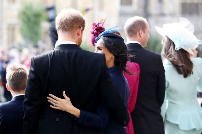 Prince Harry and Meghan Markle at Princess Eugenie's wedding.