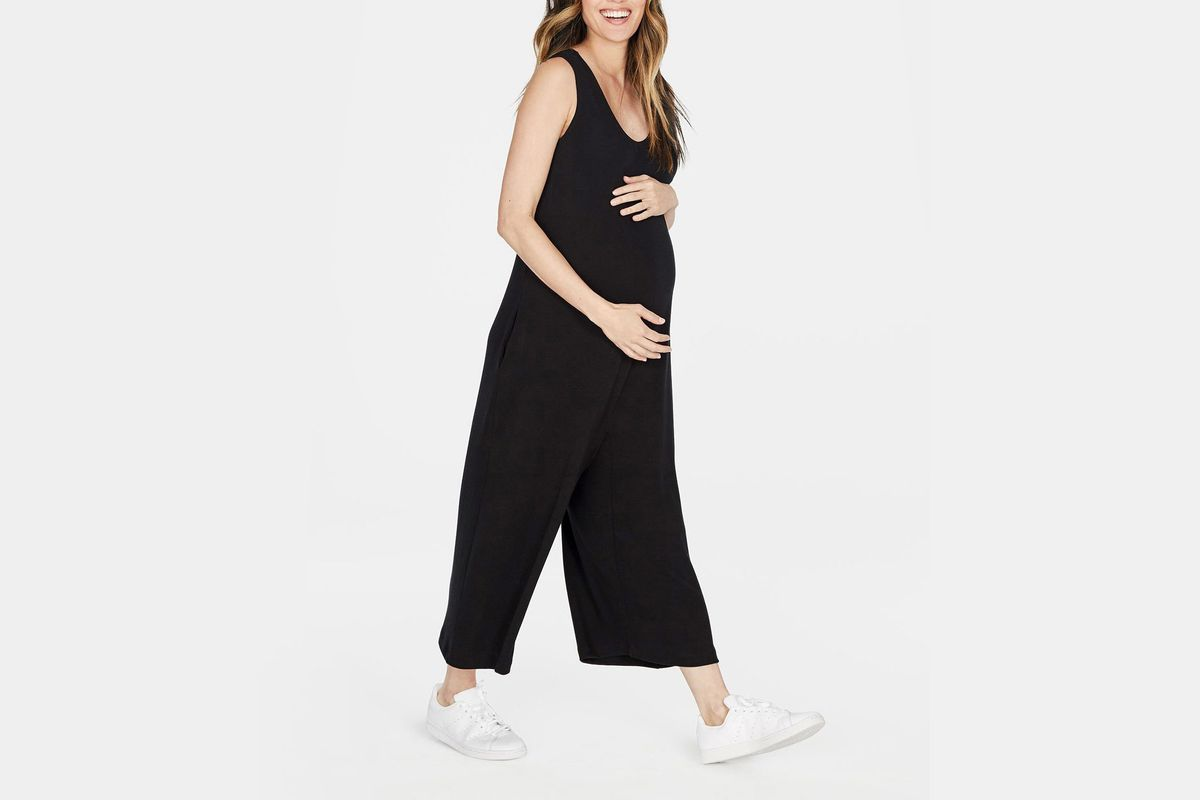 New Look Maternity Womens Pleat Side Sleeveless Maternity Blouse