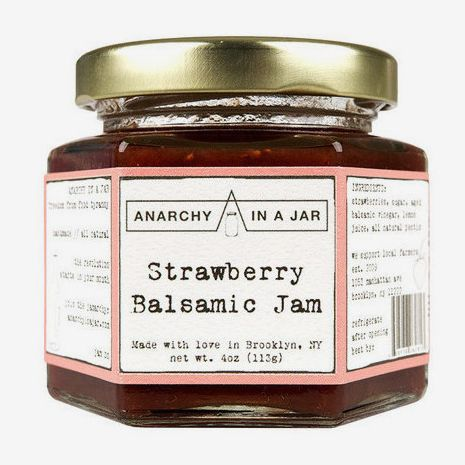 Anarchy In A Jar Strawberry Balsamic Jam, 4oz (Pack of 2)