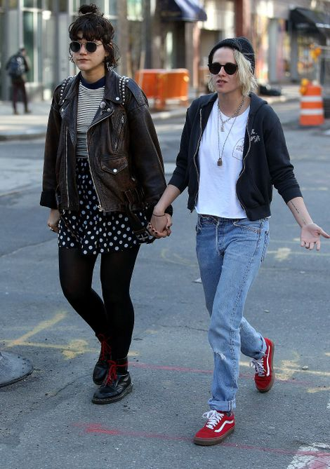 Kristen Stewart holds hands with girlfriend Soko after debuting new platinum blonde hair in New York City