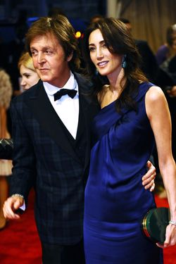 Paul McCartney and fiance Nancy Shevell.