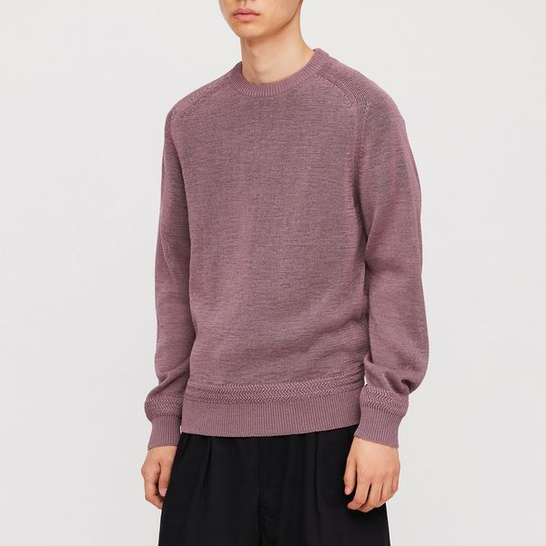 Uniqlo U Dry Touch Summer Crew Neck Long-Sleeve Sweater