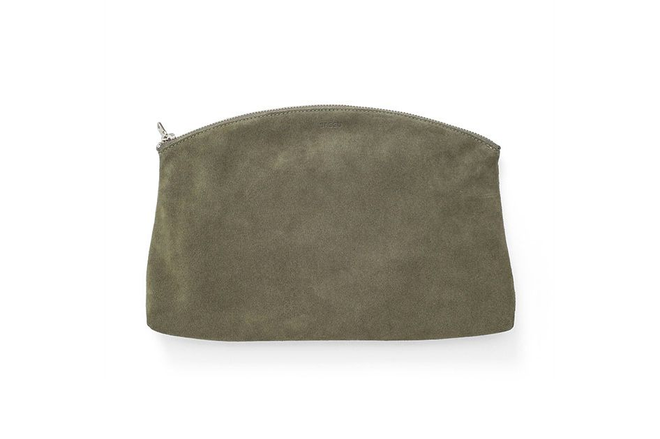 Olive Suede Clutch