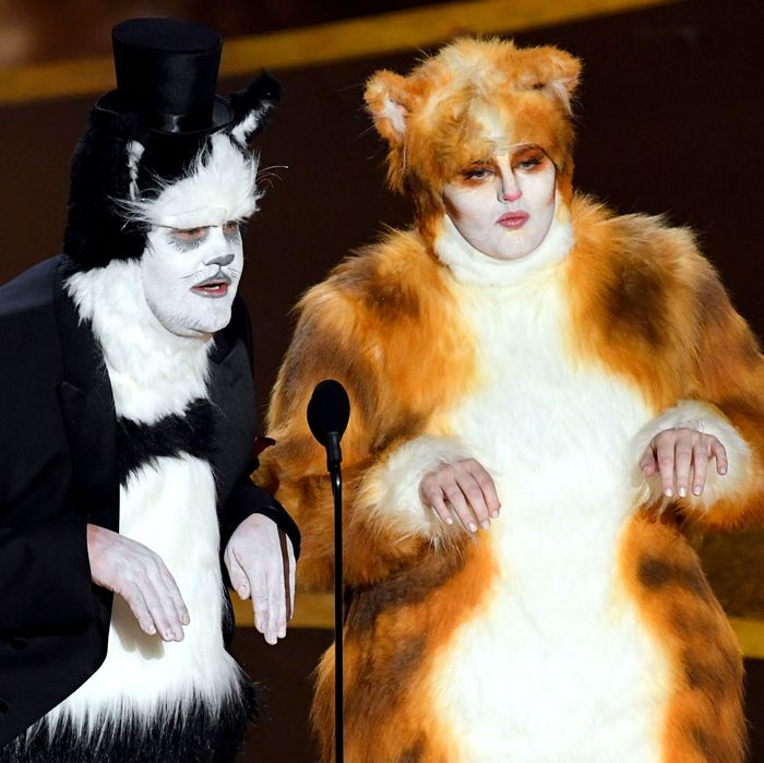 James Corden and Rebel Wilson at the 92nd Academy Awards