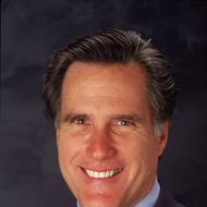 19 Oct 2001:  Salt Lake City's Olympic Committee President and Cheif Executive Officer Mitt Romney poses for a head shot during the United States Olympic Committee Summit in Salt Lake City, Utah.Mandatory Credit: Matthew Stockman  /Allsport