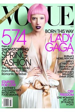Gaga's March 2011 Vogue cover.