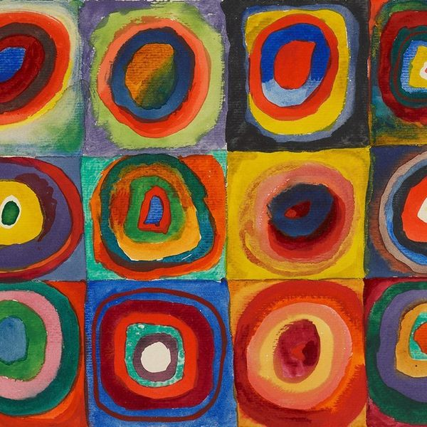 Wassily Kandinsky – Squares with Concentric Circles