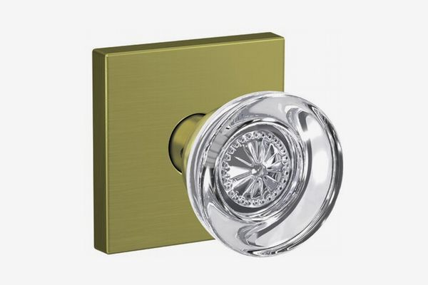 Schlage Custom Hobson Hall-Closet and Bed-Bath Glass Knob with Collins Trim