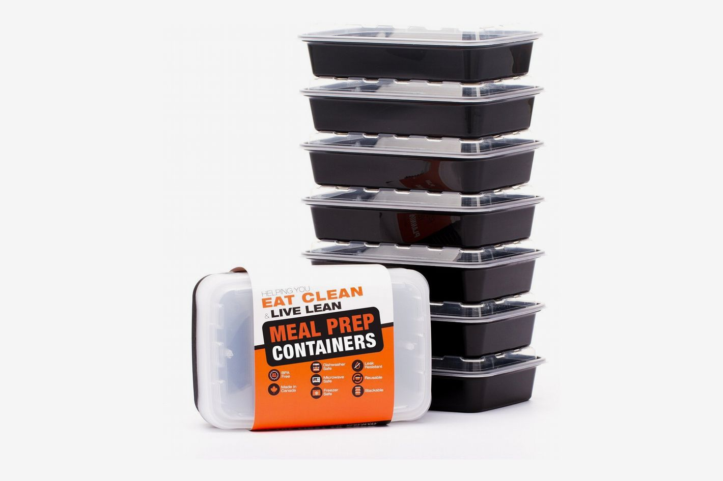 Evolutionize Healthy Meal Prep Containers (7 Pack, Single Compartment, 28 Ounce)