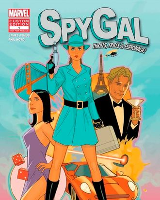 SpyGal, the new superhero created by Benefit Cosmetics and Marvel.