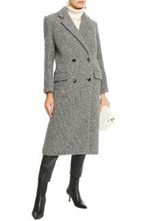 IRO Sikinos Double-Breasted Wool-Blend Bouclé Coat