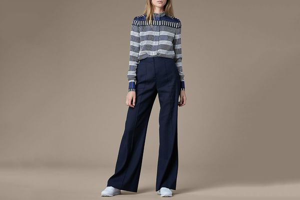 Pleat Front Flare Pants