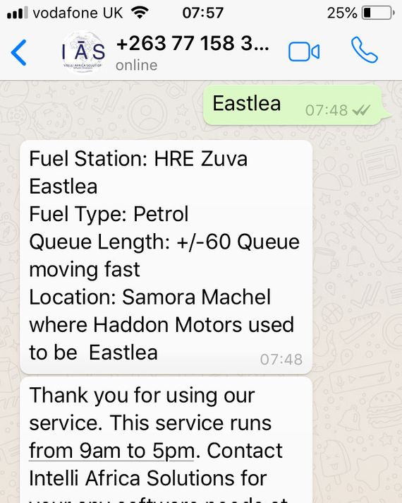 Zimbabweans Are Using WhatsApp to Find Fuel During Shortages