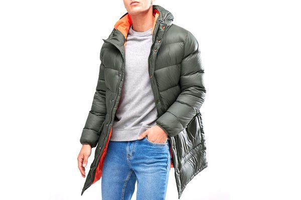 Esprit Puffer Coat In Khaki