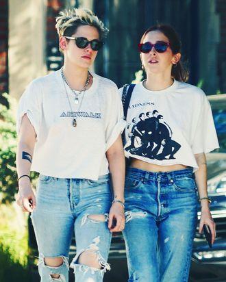 Kristen Stewart and Sara Dinkin.