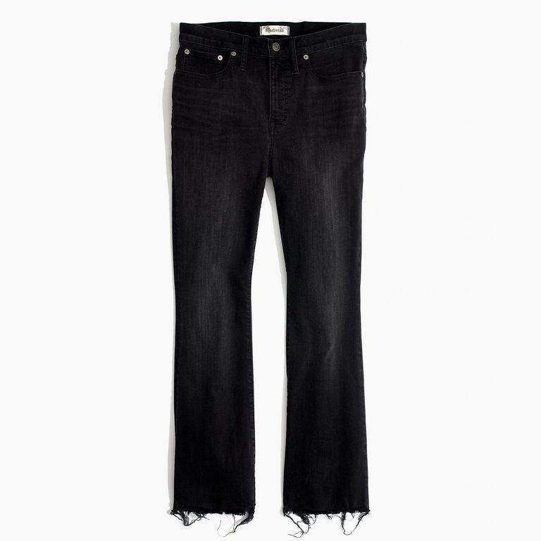 Madewell Cali Demi-Boot Jeans in Berkeley Black: Chewed-Hem Edition