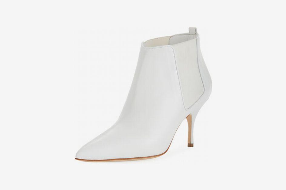 Manolo Blahnik Dildi Leather Booties