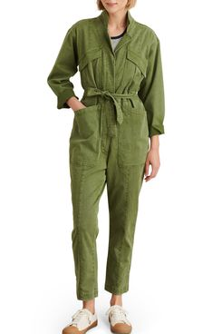 Alex Mill Expedition Twill Jumpsuit (Army Olive)
