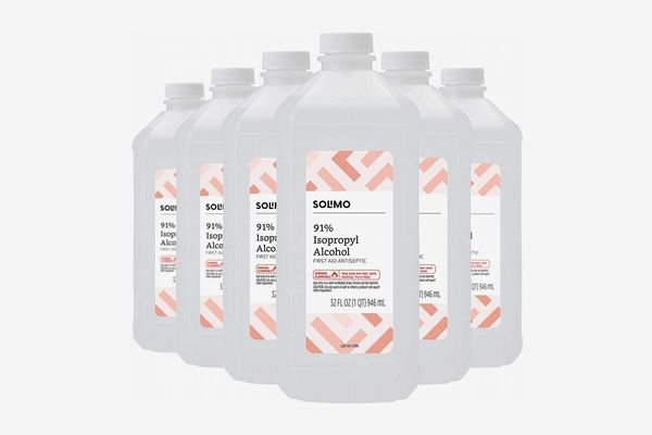 Solimo 91% Isopropyl Alcohol, Pack of 6