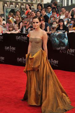 Emma Watson at the last <em>Harry Potter</em> premiere.
