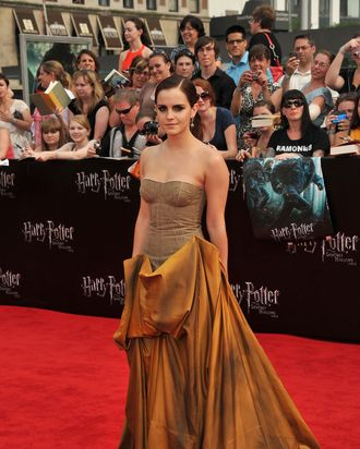 Emma Watson at the last <em>Harry Potter</em> premiere.