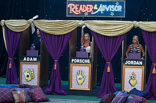 """The Big Brother Houseguests compete in the """"BB Fortune Teller"""" Head of Household competition which aired during the broadcast on Wednesday, September 7.           Photo: Cliff Lipson/CBS           ?2011 CBS Broadcasting, Inc. All Rights Reserved."""