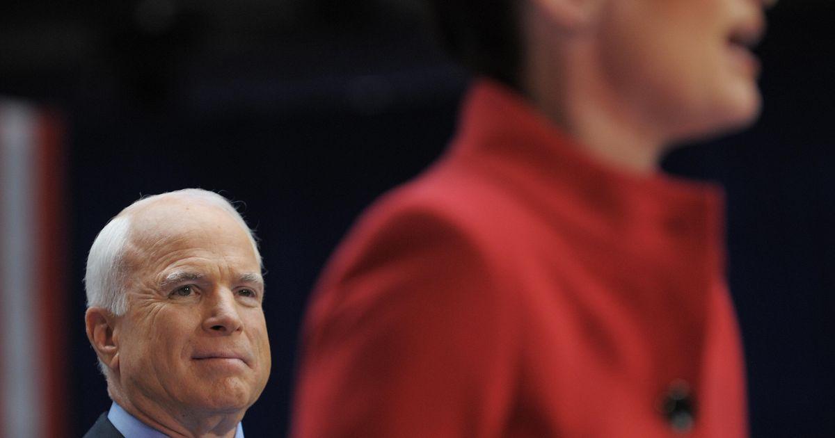 John McCain Regrets His Palin Pick for the Wrong Reasons