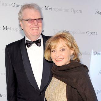 Sir Howard Stringer and Barbara Walters at The Metropolitan Opera Premiere of Manon, March 26, 2012.