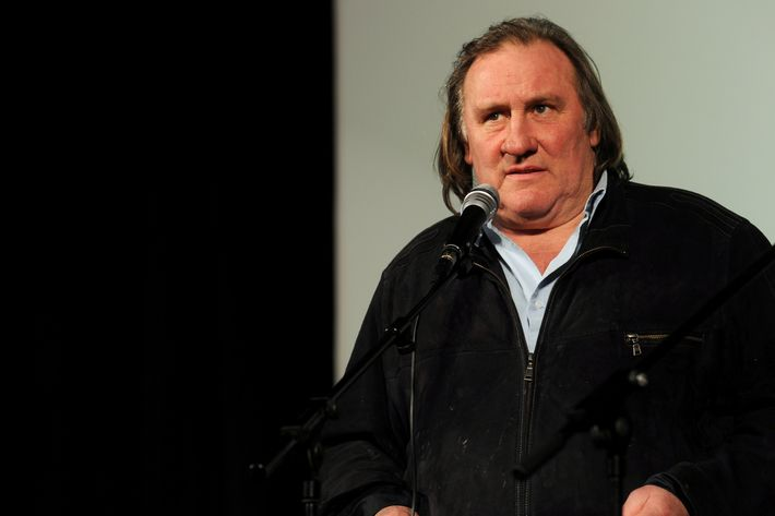 French actor Gerard Depardieu attends the opening of the newly restored Illusion Cinema in Moscow on February 22, 2013. Depardieu, who was granted a Russian passport by President Vladimir Putin after complaining at high tax rates in France, was set to spend today in Moscow before travelling 650 kilometres (400 miles) to the provincial city of Saransk to register as a resident of No. 1 Democracy Street