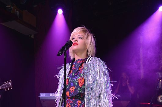 "Rita Ora performs ""I Will Never Let You Down"" and more at private showcase at The Box on April 29, 2014 in New York City."