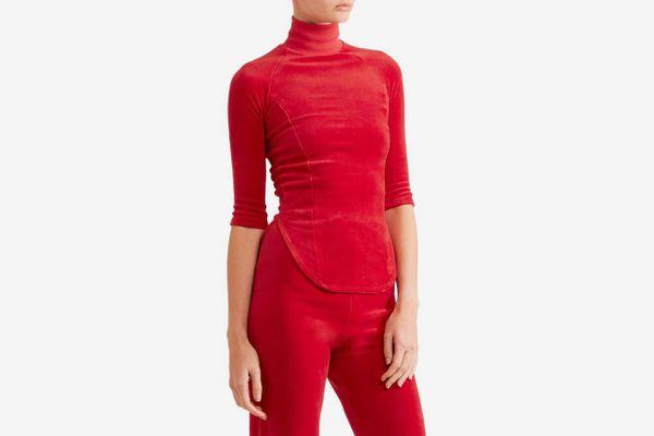 VETEMENTS + Juicy Couture cotton-blend velour top