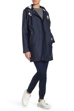 Pendleton Olympic Hooded Slicker Coat, Navy