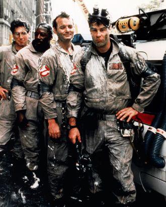 1984 --- Harold Ramis, Ernie Hudson, Bill Murray and Dan Aykroyd in the movie Ghostbusters.