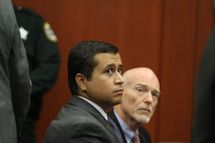 SANFORD, FL- JUNE 29: George Zimmerman sits in a Seminole County courtroom during his bond hearing on June 29, 2012 in Sanford, Florida. Zimmerman is charged with second degree murder in the shooting death of Trayvon Martin. (Photo by Joe Burbank/Orlando Sentinel-Pool/Getty Images)