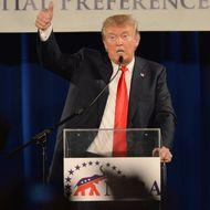 GOP Presidential Front Runner Donald Trump Address Republican Conference In Nashville