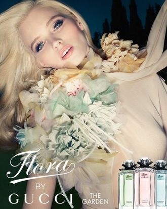 Abbey Lee Kershaw's newest Gucci fragrance campaign