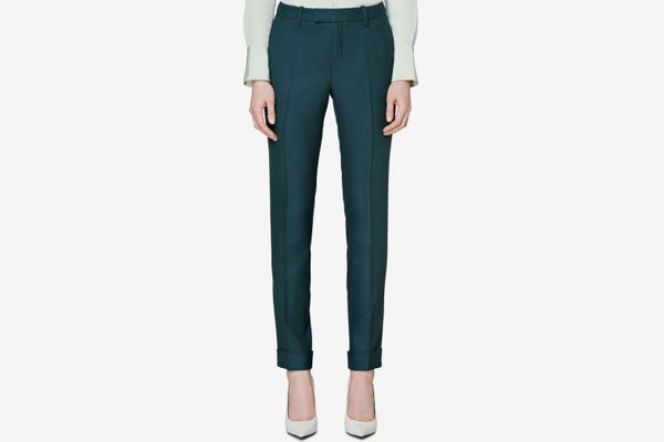 SUISTUDIO Robin Cuff High Waist Wool Pants