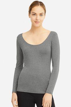 Uniqlo Women's Heattech Extra Warm Scoop Neck T-Shirt