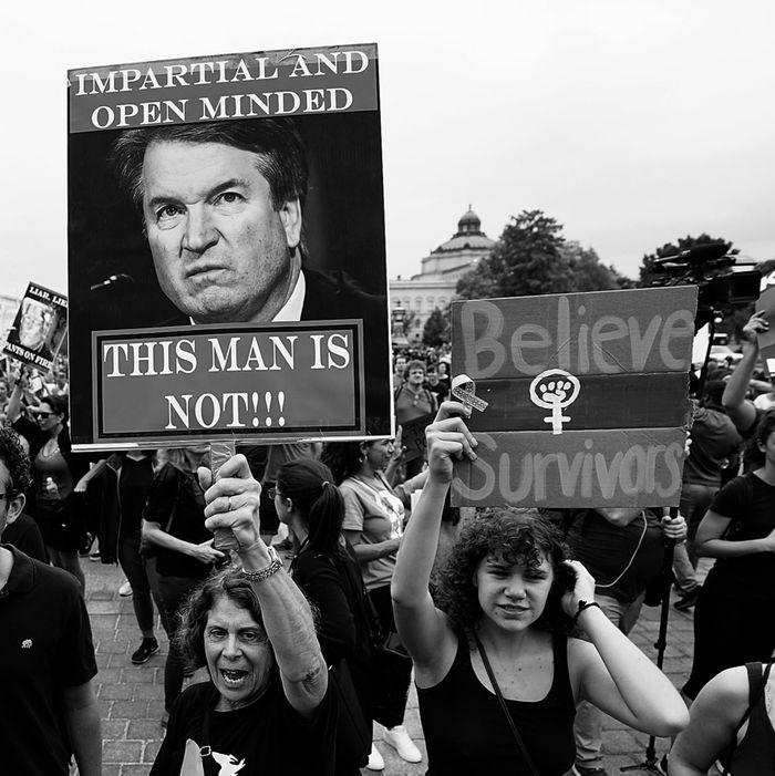 Protesters against Kavanaugh.