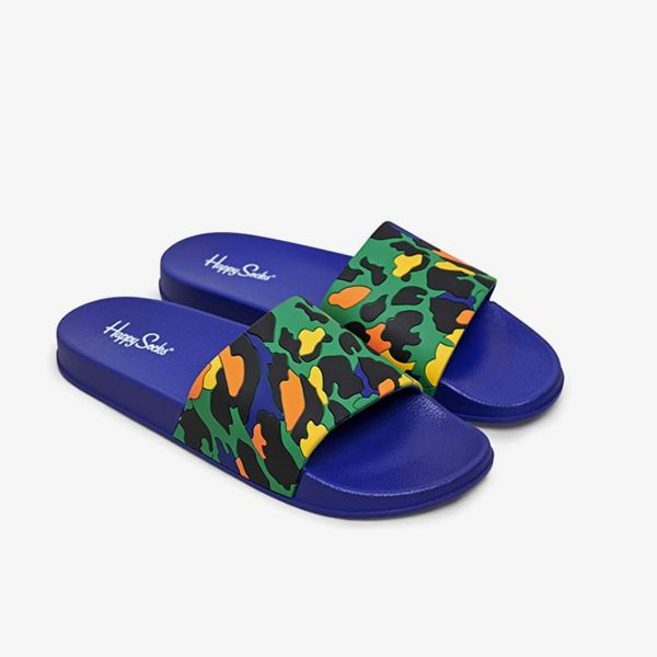 Happy Socks Pool Sliders Leopard