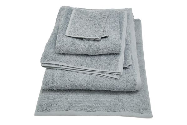 Coyuchi Cloud Loom Towels, Palest Ocean Blue
