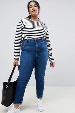 ASOS DESIGN Curve Farleigh High Waisted Slim Mom Jeans