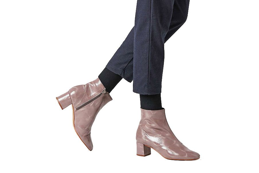 Crosswalk Jana Patent Leather Ankle Boot