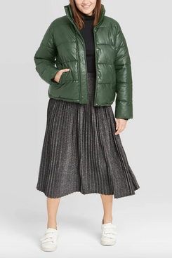Target A New Day Women's Leather Puffer Jacket