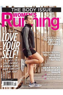 Amelia Gapin on the cover of <i>Women's Running</i> magazine.