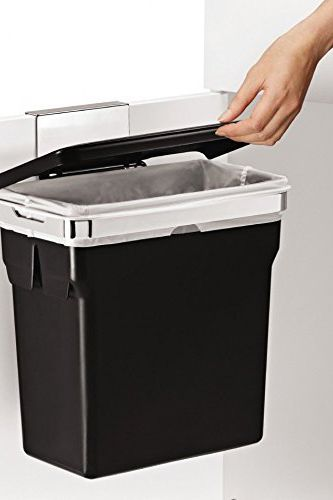 Simplehuman In-Cabinet Trash Can, Heavy-Duty Steel Frame, 2.6-Gallon