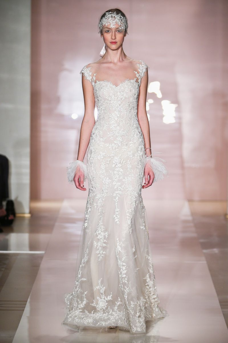 Reem acra fall 2014 bridal the cut for Reem acra lace wedding dress