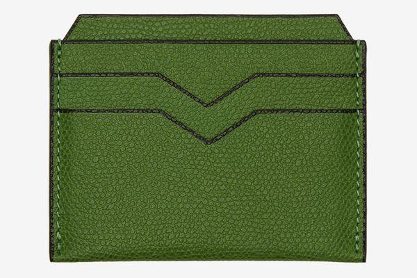 Valextra Green 4CC Card Holder
